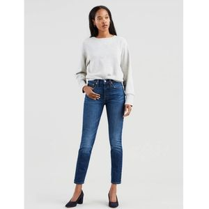 Levi's 501 Button Up Fly High Waisted Skinny Jeans